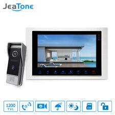 "JeaTone 10"" wired Door Phone home Intercom Video doorbell monitor Intercom Kits"