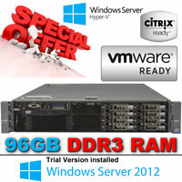 "Dell PowerEdge R710 2x SixCore XEON X5675 3.06GHz 96GB 300GB 2.5"" 10K Enterprise"
