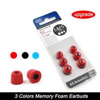 3Pair Memory Foam Ear Tips Ear Pads Eartips Noise Isolating For In Ear Earphone-