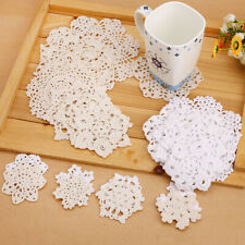 More details for 24x vintage-style doilies coasters lace motifs size 6-17.5cm mixed table protect
