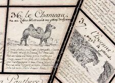 JEU DE L'OIE des ANIMAUX vers 1810  / jouet jeu ancien
