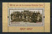 Moldova 2017 MNH Creation Country Council 100th Anniv 1v M/S Politics Stamps