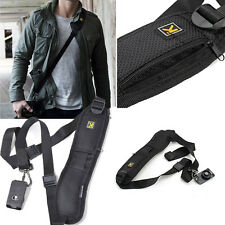 Alta Qualità Rapida Fotocamera singola spalla Black Belt Strap Sling SLR DSLR telecamera