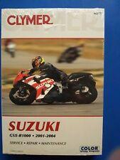 Clymer Repair Manual NEW M377 Suzuki GSX-R1000 2001-2004