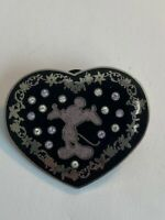 HKDL Silhouette In Jeweled Heart Mickey Mouse Disney Pin (B4)