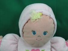 BABY GIRL PINK TALL BLUE EYES BLONDE HAIR  FLOWER TERRYCLOTH DRESS PLUSH STUFFED