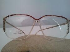 Laura Biagiotti occhiale da vista vintage 1988 plastica trasparente marrone Oro.