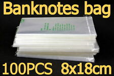 The professional banknote protective bag (soft). Transparent plastic bags. NEW