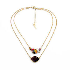 Kiss me Ladies Favorite Elegant Clavicle Colorful Rhinestone Necklace xl01349