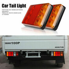 2pcs Waterproof 8 LED Trailer Light Rear Tail Lamp 12V DC Car Truck Boat Caravan