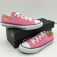 CONVERSE UK 13.5 EU 32 CHUCK TAYLOR ALL STAR OX TRAINERS PINK WHITE GIRLS M