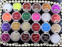 4 jar Dust Glitter Pot Nail Art Face Body Eye Shadow Craft Iridescent Cosmetic