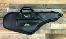Selmer Black Leather Tenor Saxophone Gig Bag w Embroidered Logo Auth. Dealer