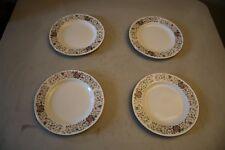 Lot Of 4 Farberware Monaco 3111 Floral China Dessert Plates