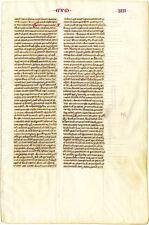 Pristine & Rare, Medieval Manuscript Leaf On Uterine Vellum, Two Pages