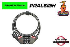 Raleigh Combo Cable Bike Lock 120cm x 10mm Black ALA806