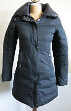 SOIA & KYO Black Reversible Feather Down Puffer Coat Jacket - Size XS *No Hood*