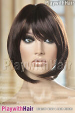 WOW!! Hot New Long Front Bob Wig Brown Auburn Mix