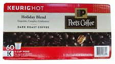 Peet's Coffee Holiday Blend Limited Edition Keurig K-Cup Brewers 60 CT  06/2021