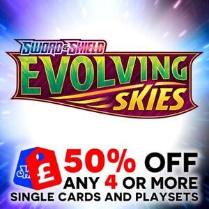 POKEMON SWORD & SHIELD EVOLVING SKIES SINGLE + TRAINER CARDS + PLAYSETS - SWSH7
