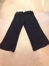 Ladies Drapers And Damons Size Med Black Sheer Lined Pants