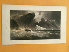 KD) Parting Hawsers Off Godsend Lodge 1856 Arctic Explorations Engraving