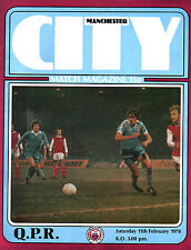 1977/78 Manchester City v Queens Park Rangers, Division 1, PERFECT CONDITION