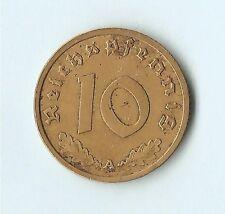 10 Reichspfennig 1939 typ A coin /GermanyThe Third Reich/ Aluminium-brąz