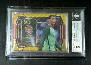 2017 Select Top Of the Class Prizm Gold 6/10 Chistiano Ronaldo BGS 9