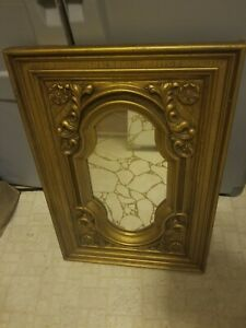 Vintage Gold Mirror Wall Hanging Hollywood vintage. Solid frame not wood.