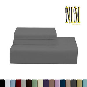 Luxury Soft 3pcs 2700 TC Fitted SHEET SET DOUBLE QUEEN KING 40cm Pocket