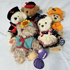 Lot of 5 The Brass Button Bear Stuffed Animals Great Childs Gifts!
