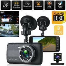 "Dash Cam 4"" LCD Car DVR Driving Recorder Dual Lens Camera 1080P Vehicle Video"