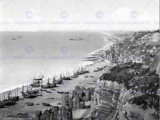 HASTINGS VIEW FROM THE EAST CLIFF ENGLAND OLD BW PHOTO PRINT POSTER 907BWB