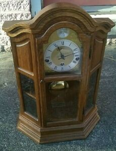 Sligh Miniature Grandfather Mantel/Mantle Clock Exceptional Cond #0508-1-AB READ