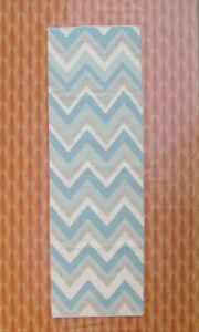 Hand woven Carpet Size Floor Covering Home Décor Kilim Rugs Wool Runner 2.6'x8'