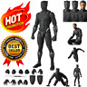 Chadwick Boseman Black Panther Avengers Action Figure Hero Toy For Collect 🔥