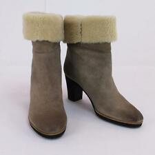 Maison Martin Margiela Genuine Leather Shearling Beige Ankle BOOTS Sz 41 / 11