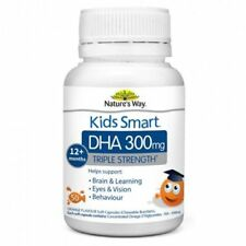 Nature's Way Kids Smart Triple Strength DHA 300mg 50 capsules 12+ months