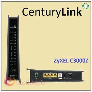 ZyXEL CenturyLink C3000Z DSL VDSL2 Bonded Wireless AC2200 Modem Router -FULL SET