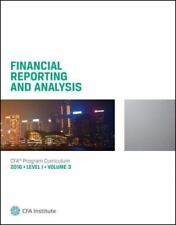 CFA INSTITUTE LEVEL 1 2016 VOLUME 3 FINANCIAL REPORTING & ANALYSIS