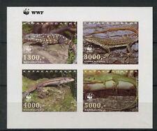 Karakalpakia Lizards WWF MNH Imperf M/S #A68047