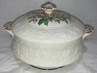 VTG Booths Silicon China England Corinthian Larkspur, Covered Serving Bowl,