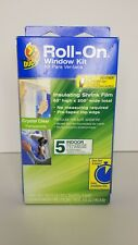 DUCK BRAND CRYSTAL CLEAR  5 INDOOR WINDOW  ROLL-ON WINDOW KIT (NEW)