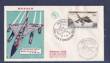 MONACO   enveloppe 1er jour    vol  Paris  New York     PA      1964