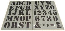 Number letter Alphabet plastic stencil large 66-68mm(H) vintage shabby chic 2xA3