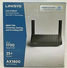Linksys Max-Stream Dual-Band Router WiFi 6 Technology AX1800 MR7320