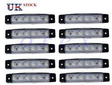 10x White 6 SMD LED Side Markers Lights 12V Caravan Bus Van Truck Lorry Trailer