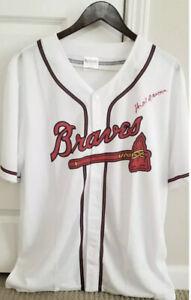HANK AARON Autographed Signed Baseball Jersey Becket Signatur AUTO Atlanta Brave