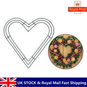 Heart Shaped Wire Floral Wreath Frame Making Craft DIY for Wedding Home Decor UK